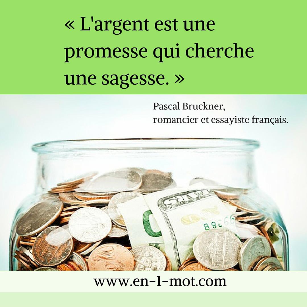 L'argent est une promesse