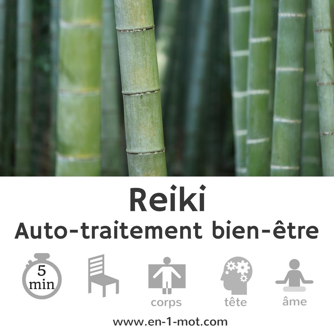 Exercice de Reiki : auto-traitement bien-être